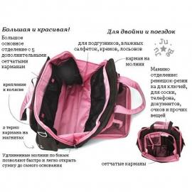 Дорожная сумка или сумка для двойни Ju-Ju-Be Be Prepared brown/bubblegum