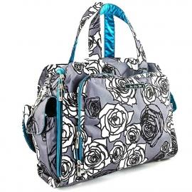 Дорожная сумка или сумка для двойни Ju-Ju-Be Be Prepared charcoal roses