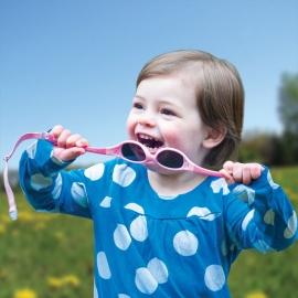Солнечные очки для малышей Real Kids 0+ розовый/салатовый