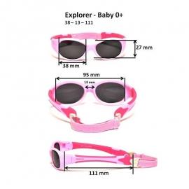 Солнечные очки для малышей Real Kids 0+ розовые