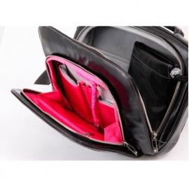 Сумка для ноутбука Ju-Ju-Be Giga Be Earth Leather Laptop Large black/hot pink