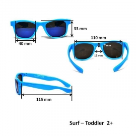 Детские солнцезащитные очки Real Kids серия Серф 2-4 года голубые