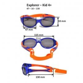 Детские солнцезащитные очки Real Kids Explorer 4+ розовый/бирюза
