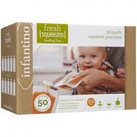 Мягкая упаковка 50 шт. для пюре и смузи 50 крышечек infantino fresh