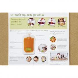 Мягкая упаковка 50 шт. для пюре и смузи 25 крышечек infantino fresh