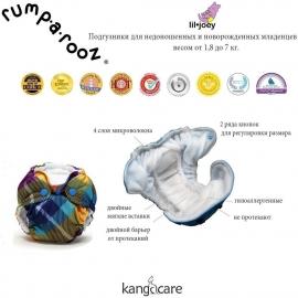 Многоразовый подгузник для новорожденного Lil Joey Kanga Care Phantom