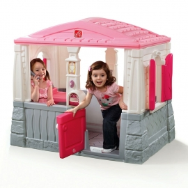 Детский домик Уютный коттедж розовый