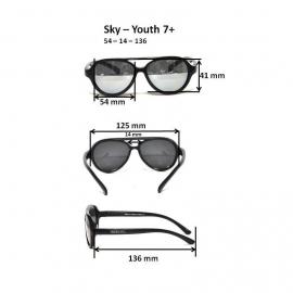 Детские солнцезащитные очки Real Kids Авиаторы 7+ синие
