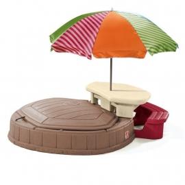 Песочница со столиком