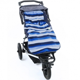 Флисовый конверт Buggysnuggle Blue Stripe Fleece