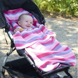Флисовый конверт Buggysnuggle Pink Stripe Fleece