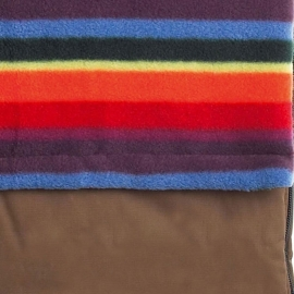 Водостойкий конверт Buggysnuggle Khaki / Warm Stripe Fleece