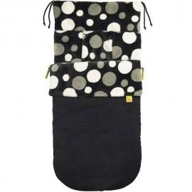 Водостойкий конверт Buggysnuggle WP Black/Charcoal Retro Spotty Fur