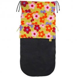 Водостойкий конверт Buggysnuggle Black/Bright Flower Fleece