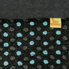 Теплый флисовый конверт Buggysnuggle Diddy Pom Poms Charcoal / Aqua