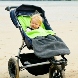 Флисовый конверт Buggysnuggle Combi Charcoal Lime