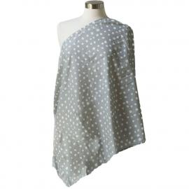 Муслиновый шарф для кормления Itzy Ritzy Ritzy Dot, Gray