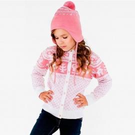 Кофта на пуговицах розовая (размер 7-8 лет)