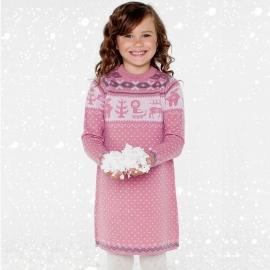 Платье розовое (размер 8-9 лет)