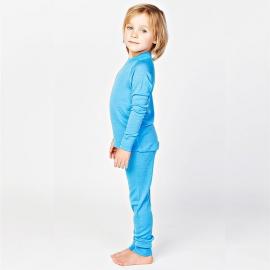 Леггинсы из шерсти мериноса голубые (размер 6-7 лет)