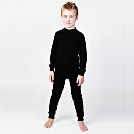 Леггинсы из шерсти мериноса черные (размер 4-5 лет)