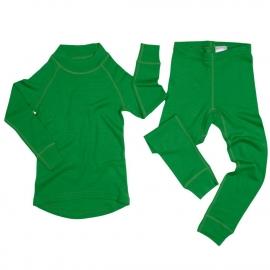 Леггинсы из шерсти мериноса зеленые (размер 3-4 года)