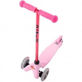Самокат Mini Micro Candy розовый с прозрачными колесами для детей от 1,5 до 5 лет