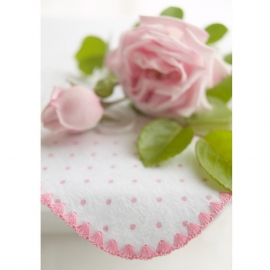 Фланелевая пеленка Organic Pstl Pink Edge