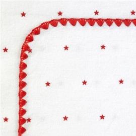 Фланелевая пеленка для новорожденного SwaddleDesigns Red Lt. Stars