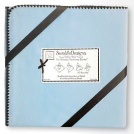 Фланелевая пеленка для новорожденного SwaddleDesigns Blue w/BR Trim