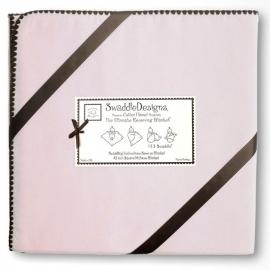 Фланелевая пеленка для новорожденного SwaddleDesigns Pink w/BR Trim