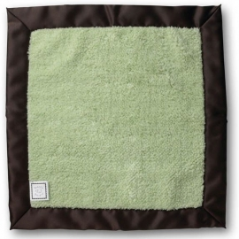 Комфортер платочек обнимашка Baby Lovie SwaddleDesigns плюшевая нежность Lime w/BR Satin