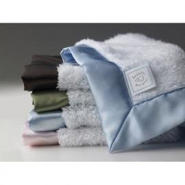 Комфортер платочек обнимашка Baby Lovie SwaddleDesigns плюшевая нежность Blue w/BR Satin