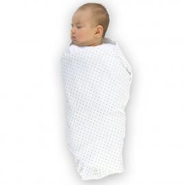 Фланелевая пеленка для новорожденного SwaddleDesigns Pink w/BR Dot