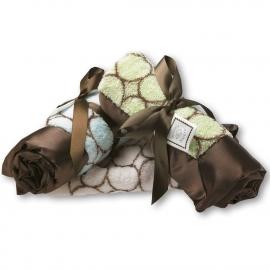 Комфортер платочек обнимашка Baby Lovie SwaddleDesigns плюшевая нежность Blue w/BR Mod C