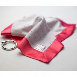 Комфортер платочек обнимашка Baby Lovie - Flannel Fuchsia Lt. Heart