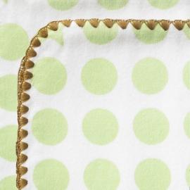 Пеленка премиум фланель Organic Kiwi Dot/Heart M