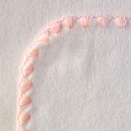 Фланелевая пеленка Organic IV w/Pstl Pink Trim