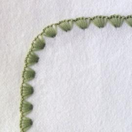 Фланелевая пеленка Organic IV w/ Sage Trim