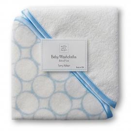 Детские мочалки SwaddleDesigns Washcloth set - Organic IV w/BL Mod C