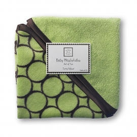 Детские мочалки SwaddleDesigns Washcloth set Lime w/BR Mod C