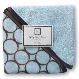 Детские мочалки SwaddleDesigns Washcloth set Blue w/BR Mod C