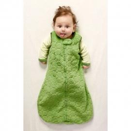 Спальный мешок для детей SwaddleDesigns эко флис TOG 1.5 Organic zzZipMe 3-6 М Pstl. Blue Trim