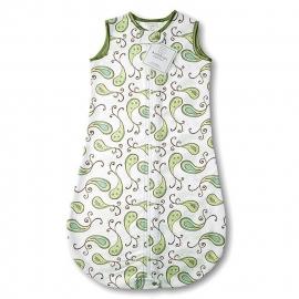 Спальный мешок для новорожденного SwaddleDesigns zzZipMe Sack 6-12M Flannel Kiwi Paisley