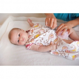 Спальный мешок для новорожденного SwaddleDesigns zzZipMe Sack 12-18M Flannel Pstl Blue Paisleys