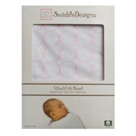 Простынь детская SwaddleDesigns Fitted Crib Sheet Pstl. Pink Mod