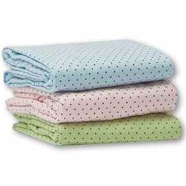 Детская простынь Fitted Crib Sheet Pink w/BR Dots