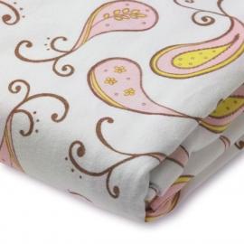 Простынь детская SwaddleDesigns Fitted Crib Sheet Pink Paisley