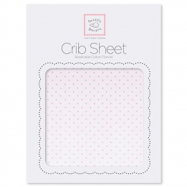 Детская простынь Fitted Crib Sheet Lt. PP w/PP Dots
