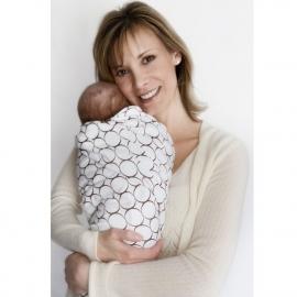 Фланелевая пеленка для новорожденного SwaddleDesigns SeaCrystal Chickies
